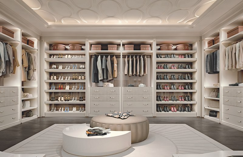 Walk in closet Womens Milanowalk In Closetwalk In Closet Archilivingcom Walkin Closet Design Ellipse By Francesco Pasi Archilivingcom