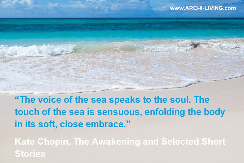 inspirational quotes about the sea,white sand beach turquoise sea,the voice of the sea speaks to the soul,romantic sea love quotes,kate chopin quotes the awakening,