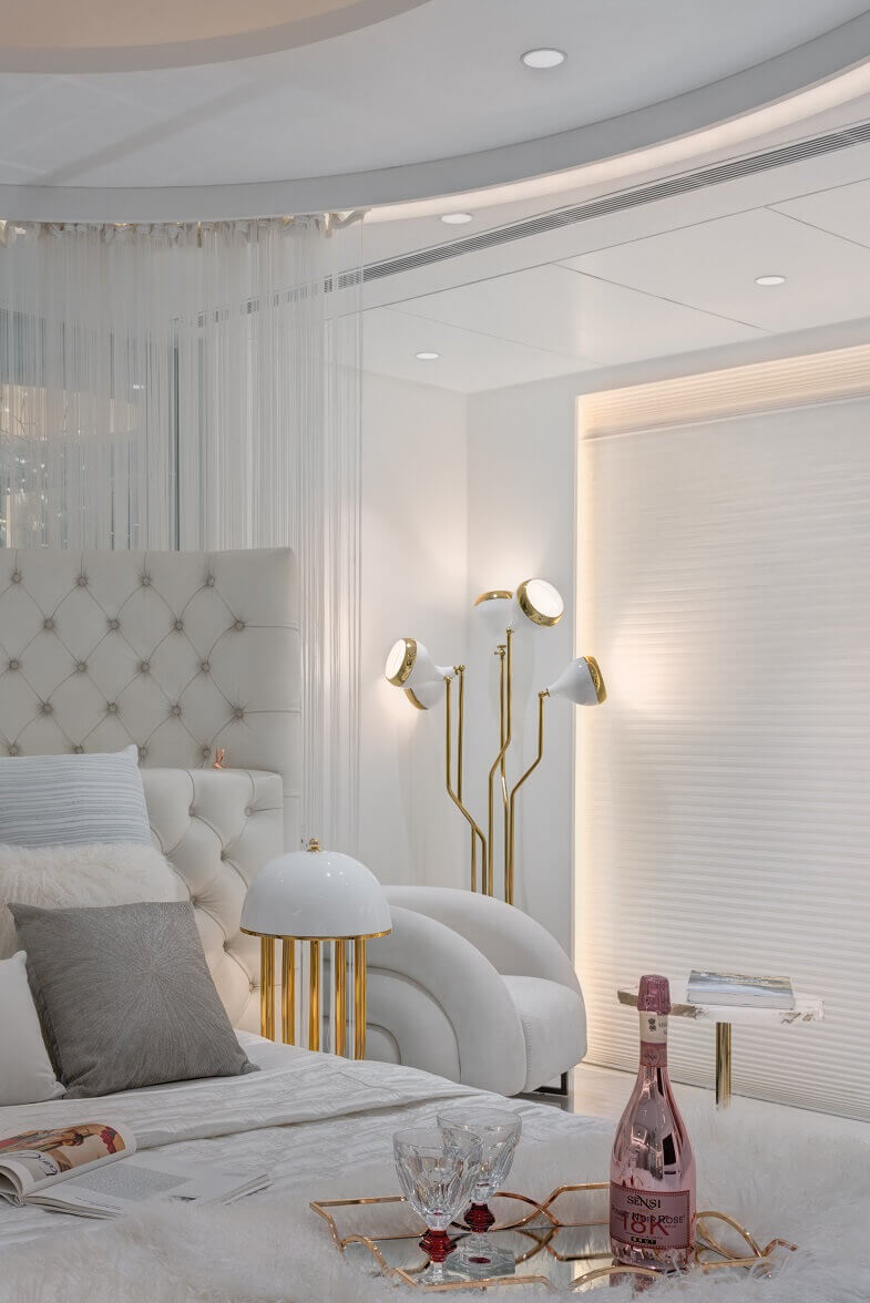 White And Golden Interior Design Project In India Archi Living Com