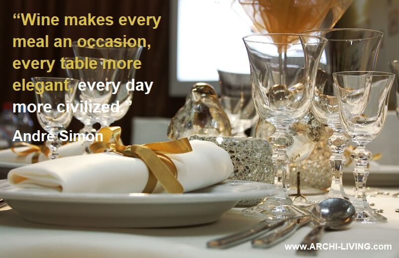 wine on table quotes,luxury table setting ideas,andre simon quotes,wine glasses with inspirational quotes,elegant table settings for dinner parties,