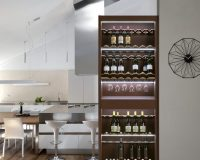 pull out wine storage,wine rack for small spaces,wine rack ideas for small kitchen,modern wine storage solutions,pull out wine cabinet,