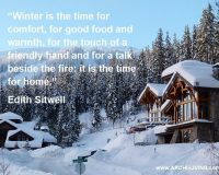 Nature winter quotes,Edith Sitwell quotes,winter mountain snow scenes,wooden cottage,mountain house ideas,