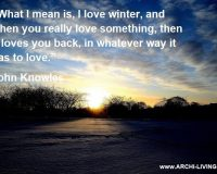 snow winter love quotes,John Knowles quotes,winter inspirational images,love quotes,sunrise colors,